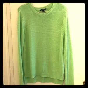 Bright green forever 21 oversized sweater